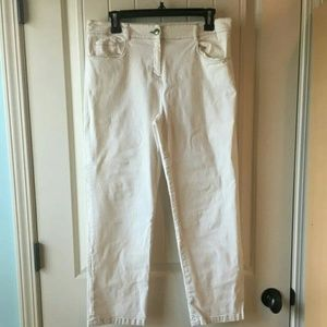 Eileen Fisher sz.8 white cropped pants